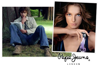Ashton Kutcher and Daria Werbowy the new faces of Pepe Jeans