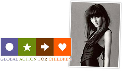 Irina Lazareanu shows support for Angelina Jolie's charity