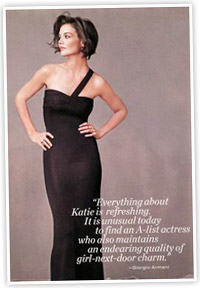 Rumor: Katie Holmes For Armani