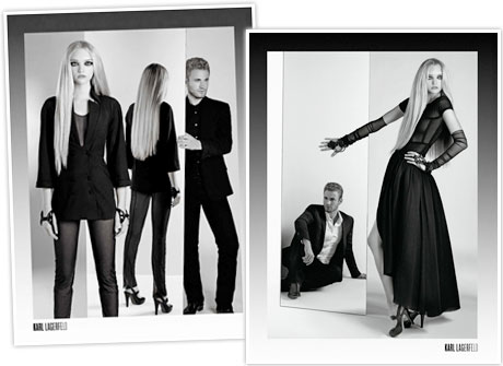 Karl Lagerfeld's spring 2008 ad campaign staring Gemma Ward