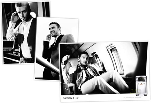 Justin Timberlake models for Givenchy's Play