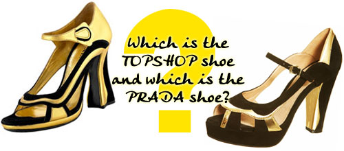 Which is the Prada and which is the Topshop swirl sandal?