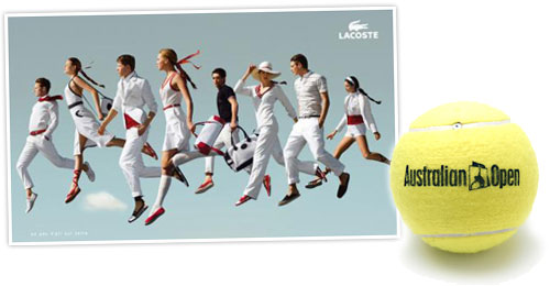 Lascoste gets serious about tennis and the Australian Open