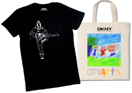 DKNY supports CITYarts with a Chari-tee and tote bags