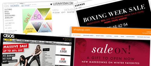 Avoid the post Christmas sale madness, shop online!