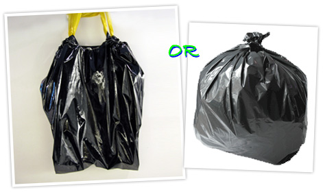 TV's Trash Bags, just like Glad's only vinyl