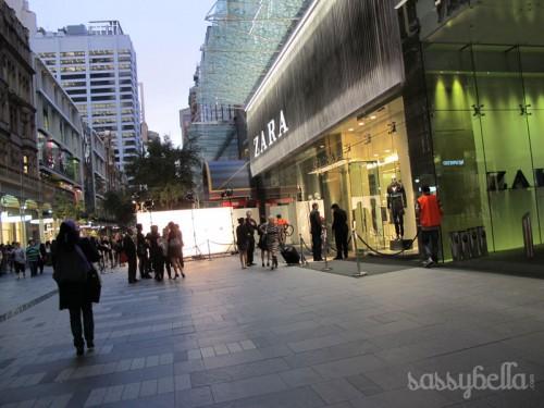 Zara launches in Sydney, Australia