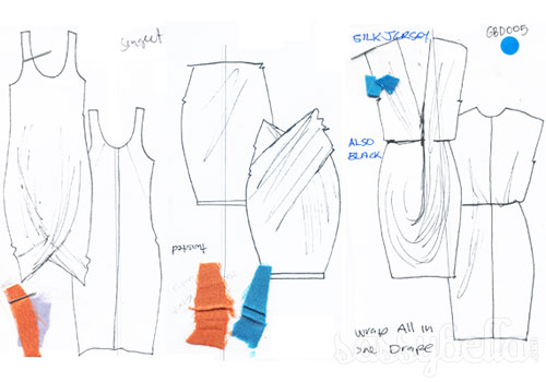 Gary Bigeni Spring/Summer 2011-12 collection sketches