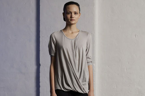 Model Rachel Rutt in Gary Bigeni