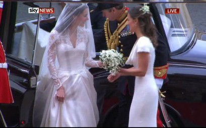 Kate Middleton's wedding dress designed by Sarah Burton