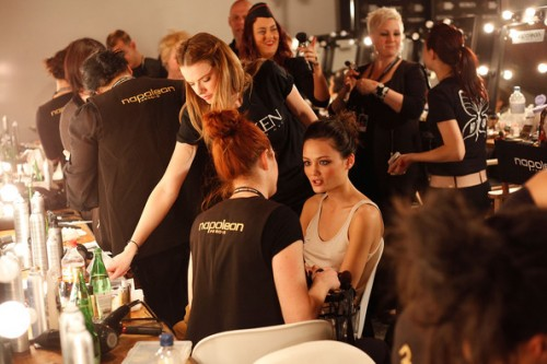 Rachel Rutt backstage at RSFF