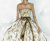 A $11k Oscar de la Renta gown goes up for auction