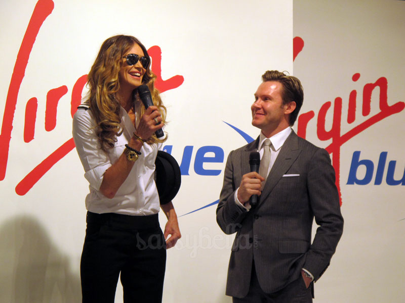 Elle Macpherson hits the runway for Virgin Blue's new uniform unveiling