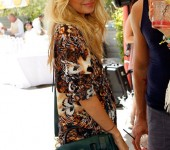 Nicole Richie at the Mulberry Coachella Party
