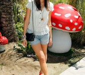 Camilla Belle at the Mulberry Coachella Party
