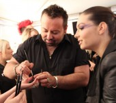 Alex Perry at RAFW: Backstage Beauty
