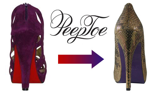Peeptoe Shoes: From Red Soles to Purple Soles