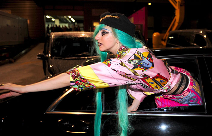 I Spy: Lady Gaga in vintage Versace in Paris