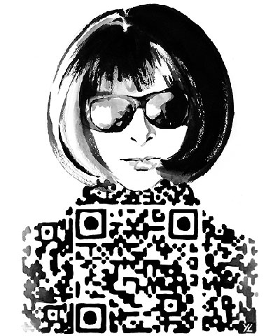 Fail Whale designer does Anna Wintour and the Olsen Twins as QR codes