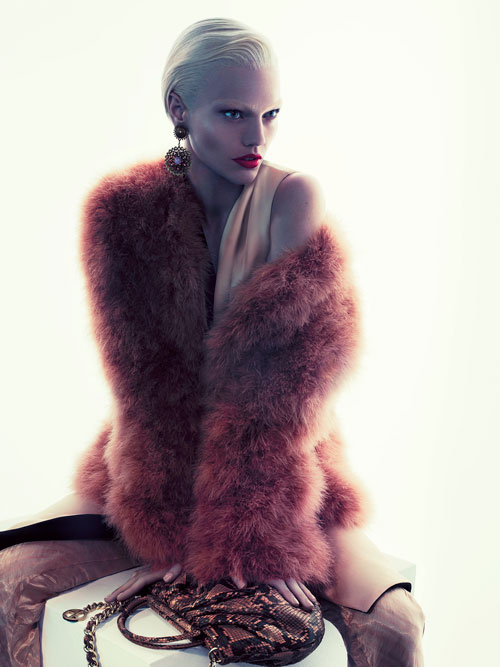 First look: Sasha Pivovarova for Giorgio Armani A/W 2011 Advertising Campaign