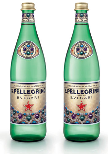 S. Pellegrino teams up with BVLGARI for some sparkly water bottles
