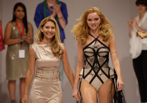 Lily Cole returns to the runway for the Triumph Inspiration Awards in Berlin