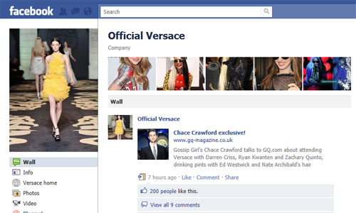 Did activists cause Versace to shut down comments on their Facebook Page?