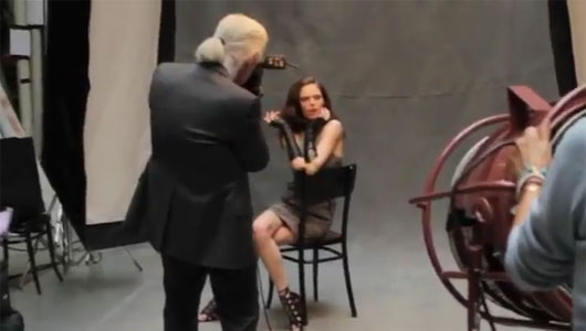 Behind the scenes: Karl Lagerfeld & Coco Rocha talk about Macys collection