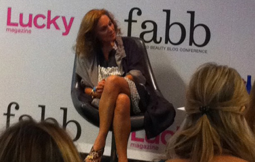 Diane Von Furstenberg talks to bloggers about authenticity