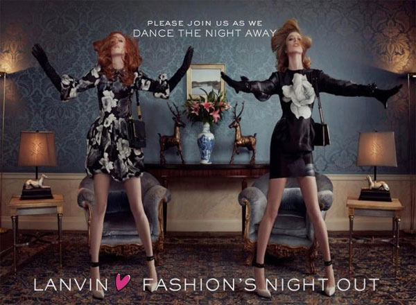 Lanvin are hosting a Fashion's Night Out dance off in New York!