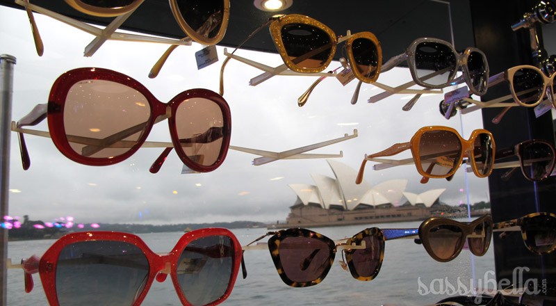 Sunglass Hut pops up in Sydney Harbour with Miu Miu Nior's on board