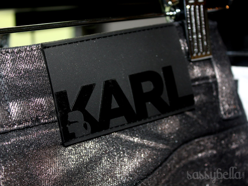 Up close and personal with KARL by Karl Lagerfeld, available exclusively at Net-A-Porter