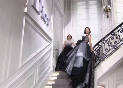 Paris Haute Couture S/S 2012: Christian Dior takes us on a whirlwind trip back to the 1950s
