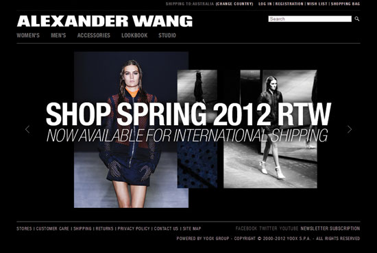 Alexander Wang now ships to Australia (and the Asia-Pacific region)!!