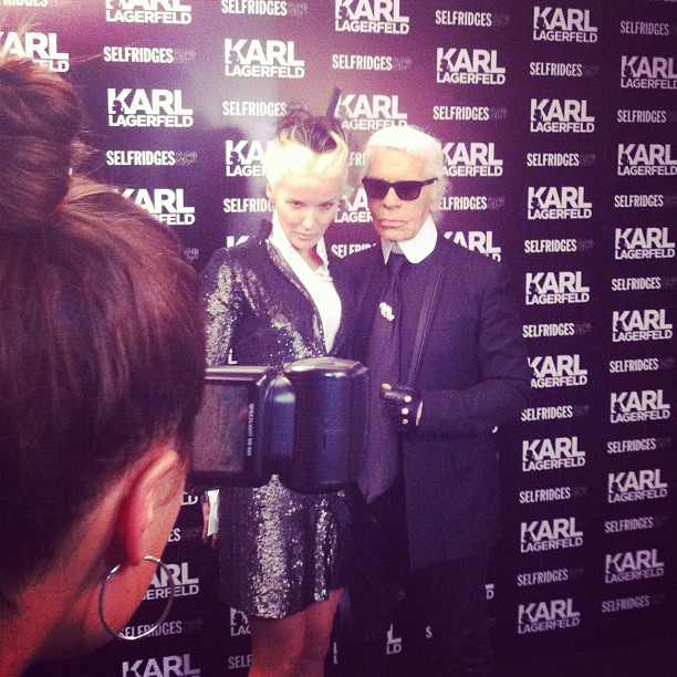 Karl Lagerfeld debuts at Selfridges and says that he thinks he's a cartoon