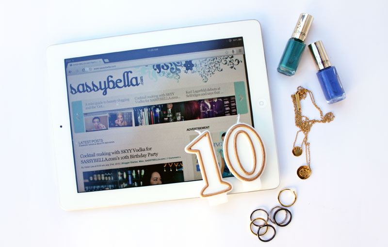 10 Years of Fashion & Beauty Blogging on SASSYBELLA.com. A short recap on the last decade.