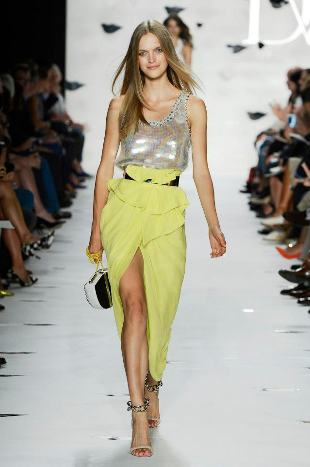 New York Fashion Week S/S 2013: Diane von Furstenberg mixes things up with past, present and future