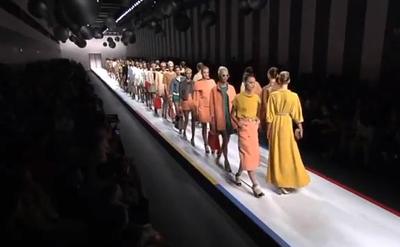 Milan Fashion Week S/S 2013: Karl Lagerfeld does geometric glam at Fendi
