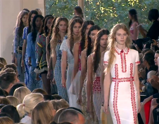 New York Fashion Week S/S 2013: Colours, patterns and texture: We see it all at Tory Burch