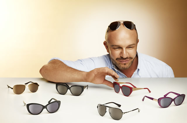 Alex Perry takes on prescription sunglasses for Specsavers