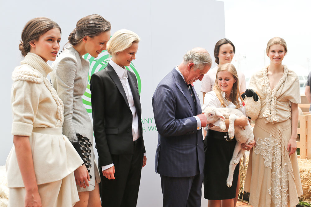 Australian designers show off their creations to Prince Charles for the Campaign for Wool