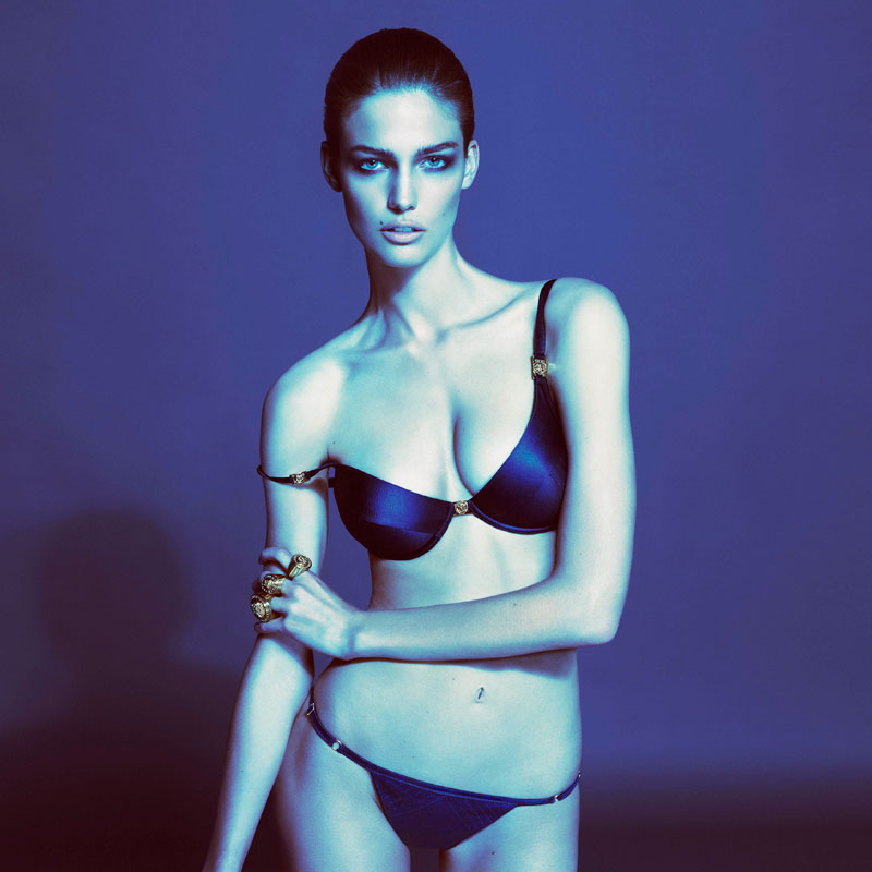 Donatella Versace launches a Underwear and Beachwear collection for S/S 2013
