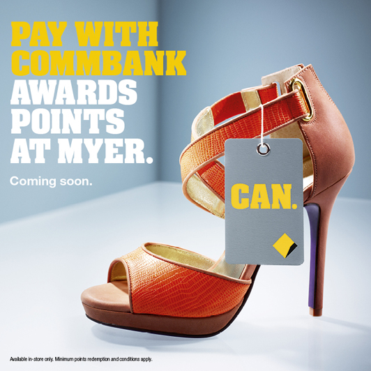 Win Myer Gift Cards to celebrate Myer & Commonwealth Bank launching instantly redeemable reward points!