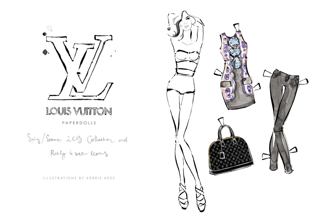 Louis Vuitton teams up with Kerrie Hess for Ready-to-Cutout Paper Dolls