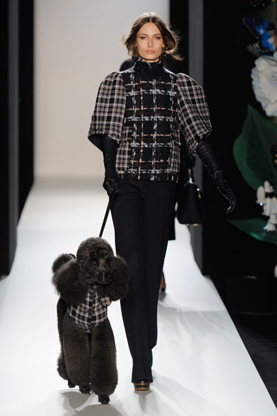 London Fashion Week A/W 2013: Mulberry brings checks and a poodle to the runway