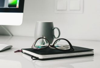 glasses-desk