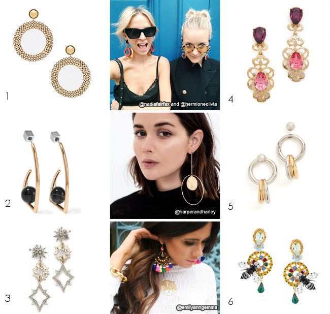 Fashion Bloggers wearing Statement Earrings
