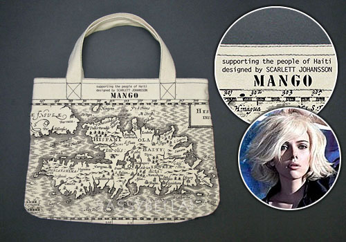 Scarlett Johansson designs bag with Mango for Haiti relief