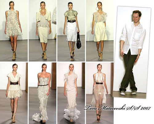 Toni Maticevski at New York Fashion Week Spring 2007