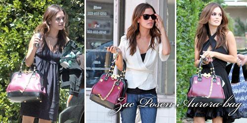 I spy…. Rachel Bilson loving her Zac Posen Aurora bag